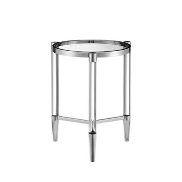 Millie  Lamp Table Circular - Silver