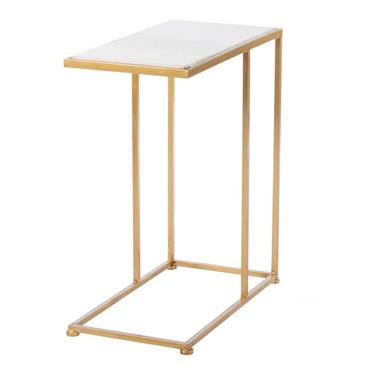 BELLA SOFA TABLE MARBLE TOP GOLD SML