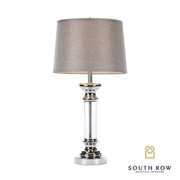 ARISTA TABLE LAMP TEXTURED GREY SHADE 76CM