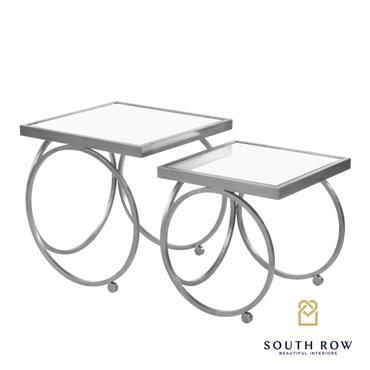 WINSTON S/2 NESTING TABLE SET SILVER