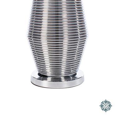 MACY RIDGES TABLE LAMP SMOKED GREY 64CM