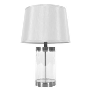 CARLEE TABLE LAMP SATIN SILVER 55CM