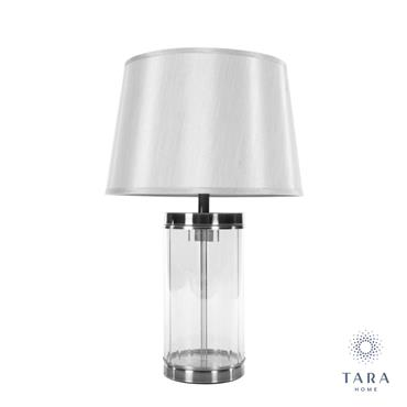 CARLEE TABLE LAMP SATIN SILVER 55CM