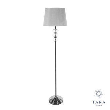 JANE FLOOR LAMP SILVER/GREY 158CM