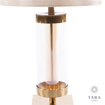 JANE GLASS CYLINDER LAMP BRONZE/GOLD 54CM