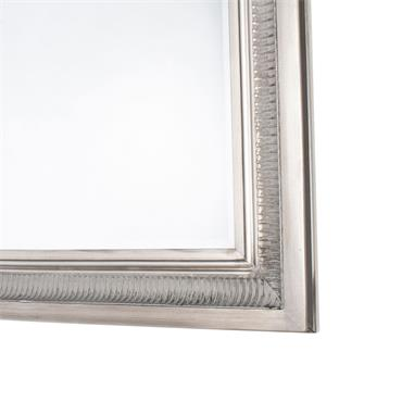 BORDEAUX WALL MIRROR ANTIQUE SILVER LARGE