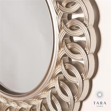 REFLECTIONS LOOP MIRROR CHAMPAGNE ROUND