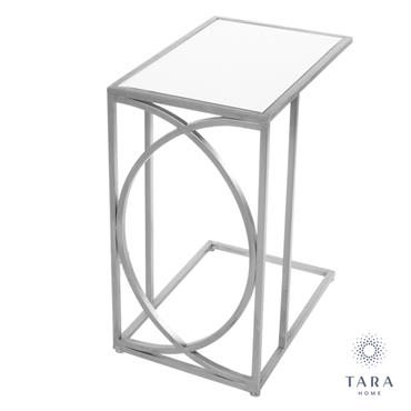 FRANKLIN SOFA TABLE MIRRORED TOP SILVER