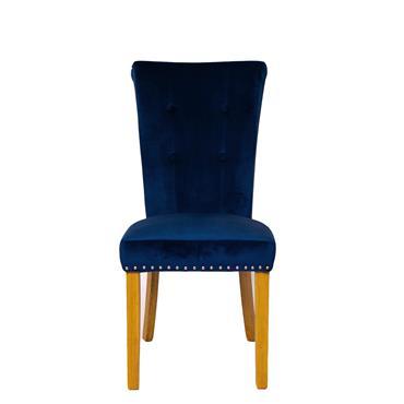 Lydia Chair Blue Oak Leg