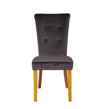 Lydia Chair Grey Oak Leg