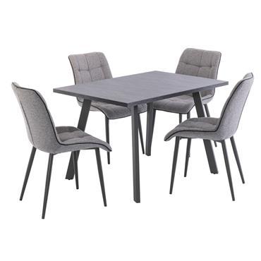 Lahinch 1.2m Dining Table Dark Grey