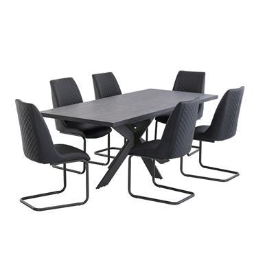 Lahinch 1.6-2.0m Extending Table Dark Grey