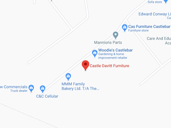 Castle Davitt Furniture Castlebar location map