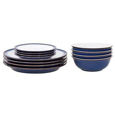 Denby Imperial Blue Tableware Set 12pce