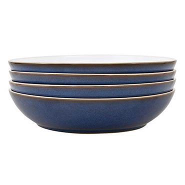 Denby Imperial Blue Pasta Bowl Set 4pce