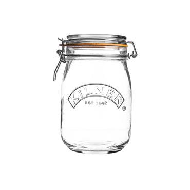 Kilner Round Cliptop Jar 1L