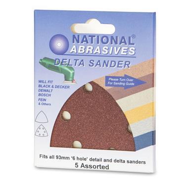 Delta Oxide Sanding Sheets 5pk Assorted