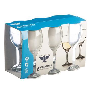 Ravenhead Essentials White Wine Glasses 25cl 6pk