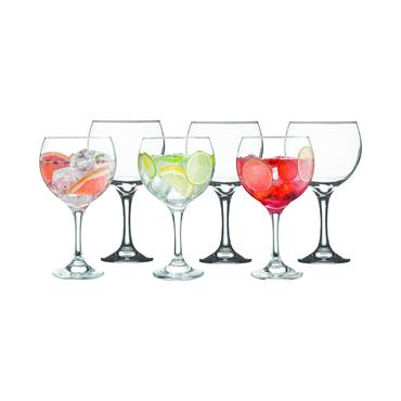 Gin Balloon Glasses 6pce 65cl