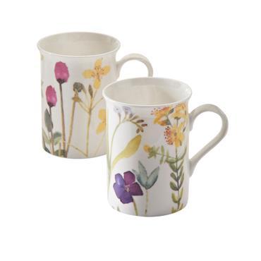 Price & Kensington Bloom Assorted Bone China Mugs