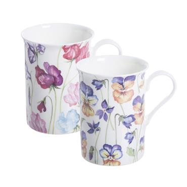 Price & Kensington Viola & Sweetpea Assorted China Mug