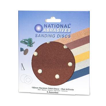 Sanding Disc 5pk Assorted 150mm