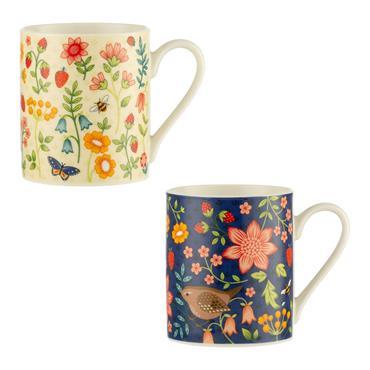 Price & Kensington Assorted Wild Flower Fine China Mug
