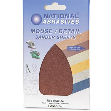 Mouse Sanding Pads 5pk Assorted