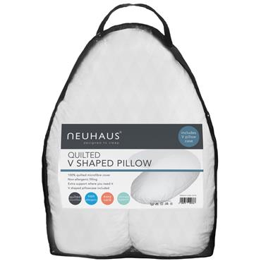 Neuhaus Quilted V Shaped Pillow