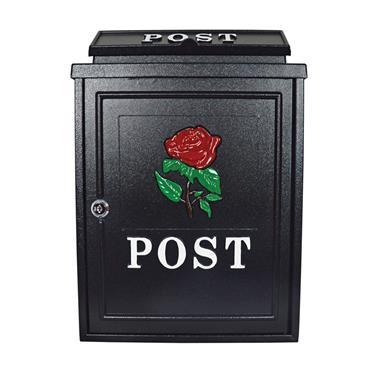 De Vielle Rose Diecast Post Box Black