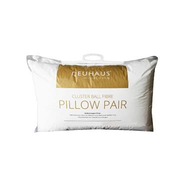 Neuhaus Cotton Check Pillow Twin Pack