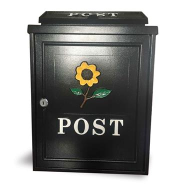 De Vielle Sunflower Post Box Black
