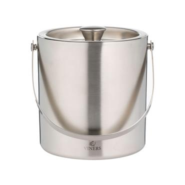 Viners Barware Silver Double Wall Ice Bucket 1.5L