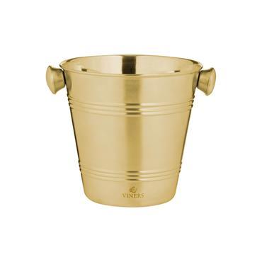 Viners Barware Gold Single Wall Ice Bucket 1L