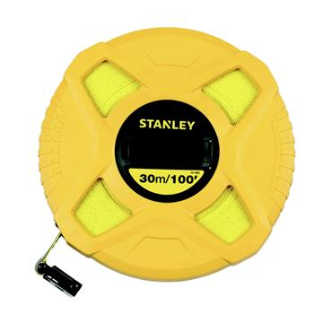 Stanley 30mtr Closed Fibre glass Tape