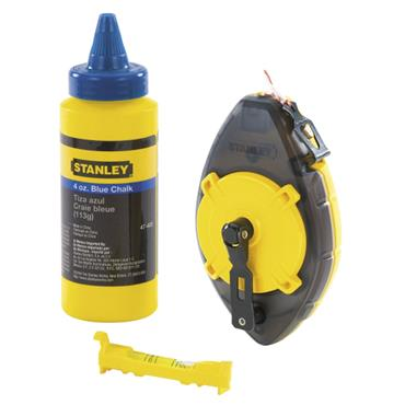 Stanley 30mtr Powerwinder With Chalk & Level