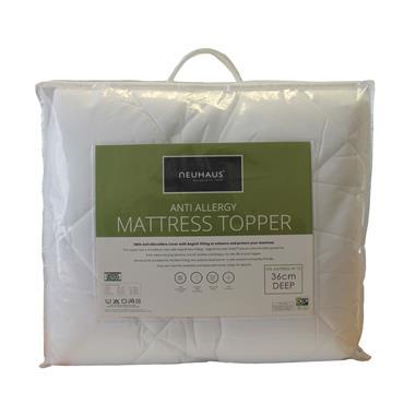 Neuhaus Double Mattress Topper Anti Allergy