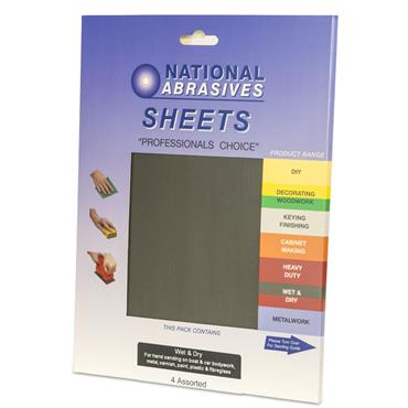 Wet & Dry 5pk Assorted Sanding Paper