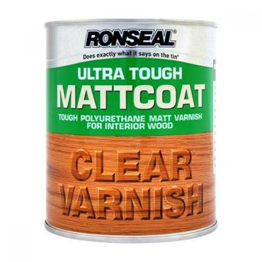 Ronseal Ultra Tough Internal Mattcoat Clear Varnish 750ml