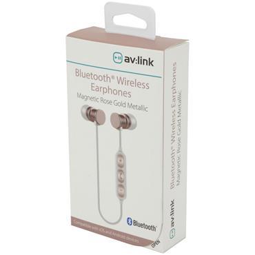 Av:Link Magnetic Bluetooth Earphones Rose Gold