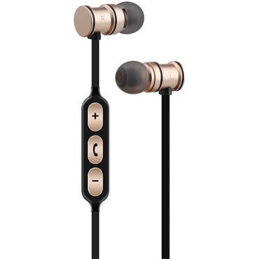 Av:Link Magnetic Bluetooth Earphones Gold