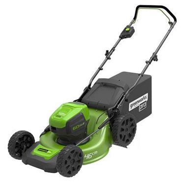 """Greenworks 18"""" Battery Self Drive Lawnmower C/W 2 60V Batteries & Charger"""