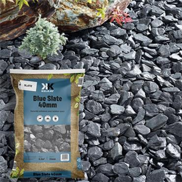 Kelkay Blue Slate 40mm Chippings 25kg