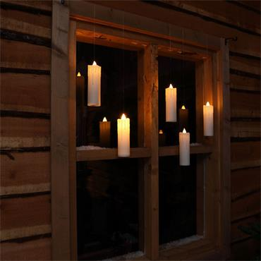 Noma Warm White Remote Controlled Magic Candles With Wand 5pce