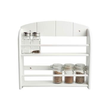 Jar Spice Rack In White Painted Hevae