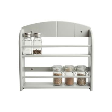 T&G Woodware 12 Jar Spice Rack In Grey Painted Hevae