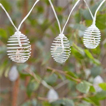 Smart Garden Spiralight 10 Silver Solar String Lights