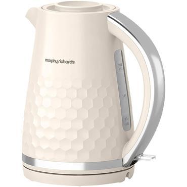 Morphy Richards Hive Pattern Kettle 1.5l 3kw Cream