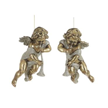 Edelman Assorted Ornament Angel Gold Large