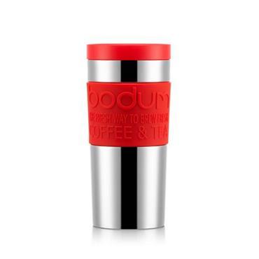 Bodum Travel Press Vacuum Stainless Steel / Red 12 oz